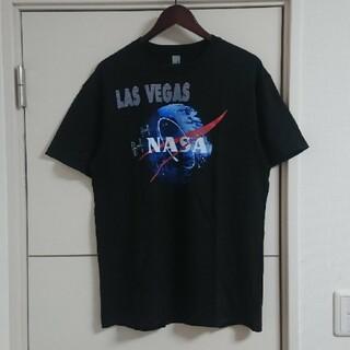 NASA ナサ アメリカ航空宇宙局 Tシャツ 古着 デカロゴ