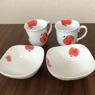 ハサミ(HASAMI)の新品 有田焼 りんご 林檎 波佐見焼 伊万里焼 マグカップ 手描 ボウル(食器)