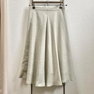 ガリャルダガランテ(GALLARDA GALANTE)のガリャルダガランテ リネン風フレアスカート(ひざ丈スカート)