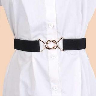 スカート ベルト ゴム ブラック 黒 簡単 調節 アジャスター付き 学生服
