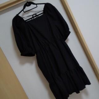 GU - 美品 GU レディースワンピース 大きいサイズ XXL ブラック ブランド