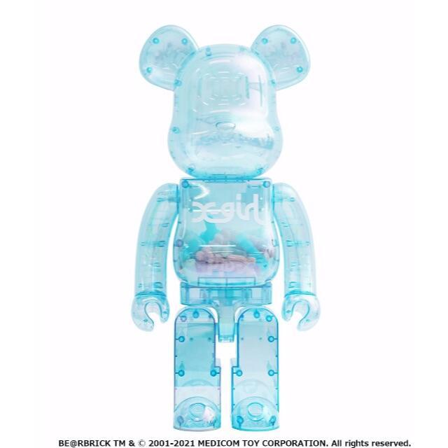 MEDICOM TOY(メディコムトイ)の即発送 BE@RBRICK X-girl 2021 1000% エンタメ/ホビーのフィギュア(その他)の商品写真