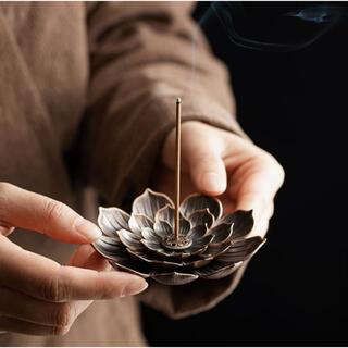 ✧︎再入荷✧︎お香立て、灰皿に チベット土産①蓮の花のお香立て(小物入れ)