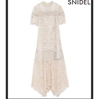 snidel - スナイデル  総レース ロング ワンピース
