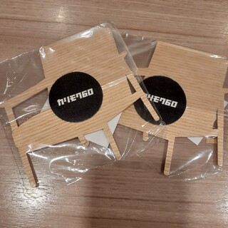 カリモクカグ(カリモク家具)のカリモク60 Kチェア型コースター 2個(食器)