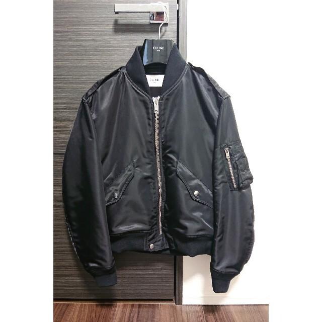 celine(セリーヌ)のセリーヌ ボンバージャケット 希少XSサイズ 44 黒 ma1 メンズのジャケット/アウター(ブルゾン)の商品写真