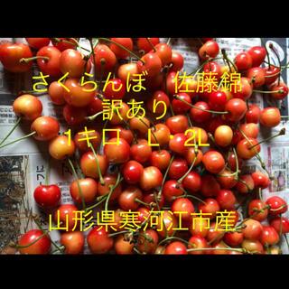 さくらんぼ 佐藤錦1キロ 訳あり L・2L 山形県寒河江産 農園直送(フルーツ)