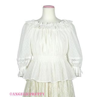 アンジェリックプリティー(Angelic Pretty)のAngelic Pretty Resortブラウス カットボイル 白(シャツ/ブラウス(長袖/七分))