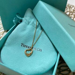 Tiffany & Co. - ティファニー K18  オープンハートネックレス