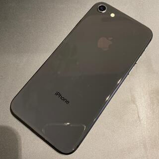 アイフォーン(iPhone)のSIMフリー☆中古 iPhone8 64GB スペースグレイ(スマートフォン本体)