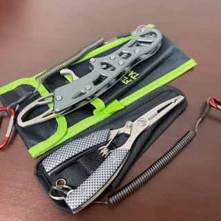 フィッシングプライヤー+フィッシュグリップ 2点多機能釣具セット一体型収納ケース
