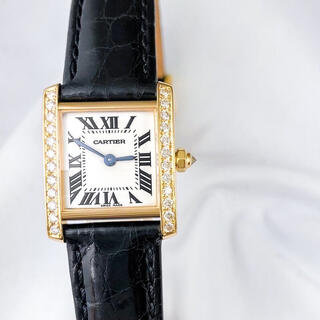 カルティエ(Cartier)の【仕上済】カルティエ フランセーズ K18 YG ダイヤ レディース 腕時計(腕時計)