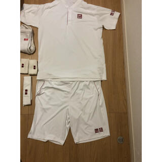 ユニクロ(UNIQLO)のユニクロ シャツ パンツ テニス ウェア フェデラー ハチマキ セット 錦織(ウェア)