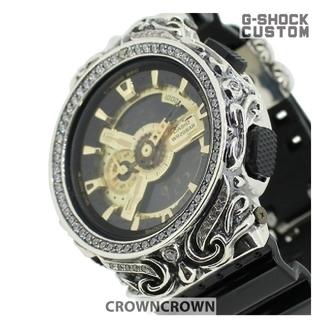 ジーショック(G-SHOCK)のG-SHOCK CROWNCROWN 定価約8万6千円 カスタム シルバー925(腕時計(アナログ))