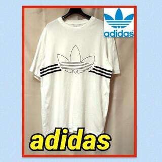 アディダス(adidas)のadidas アディダスオリジナルス ビッグロゴ トレフォイル ロゴ 白 黒(Tシャツ/カットソー(半袖/袖なし))
