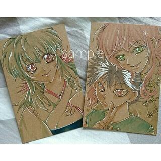 手描きイラスト★蔵馬 飛影 雪菜 2枚セット(アート/写真)