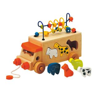 mikihouse - アニマルビーズバス  木のおもちゃ 積み木 おもちゃ  知育玩具 出産祝い