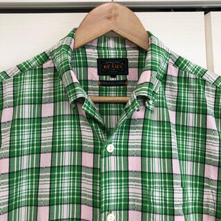 BEAMS - ビームスプラス BEAMS PLUS + 半袖チェックシャツ