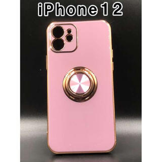 iPhone12 ケース シンプル 韓国 人気 スマホ パープル F(iPhoneケース)