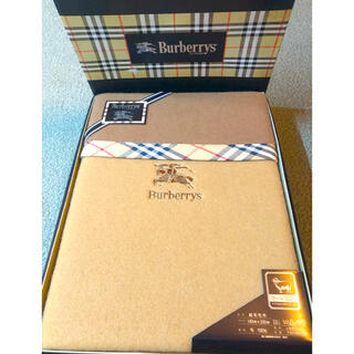 BURBERRY - 新品 バーバリー BURBERRYS 純毛 毛布 140×200cm 西川