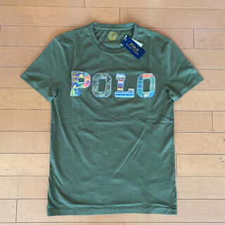 POLO RALPH LAUREN - 新品タグ付き ラルフローレン ロゴアップリケTシャツ カーキ S(Mサイズ相当)