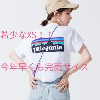 パタゴニア(patagonia)のレディースオススメサイズXSパタゴニアTシャツホワイト(Tシャツ/カットソー(半袖/袖なし))