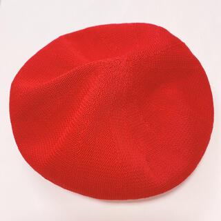 シマムラ(しまむら)のしまむら 赤 ベレー帽 新品同様 夏用(ハンチング/ベレー帽)