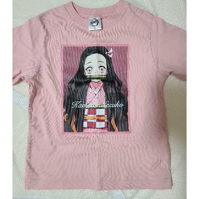 GU(ジーユー)の鬼滅の刃 禰豆子 Tシャツ 130㎝ キッズ/ベビー/マタニティのキッズ服女の子用(90cm~)(Tシャツ/カットソー)の商品写真