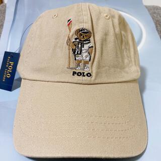 ポロラルフローレンキャップ メンズ帽子 ベージュ ポロベアキャップ