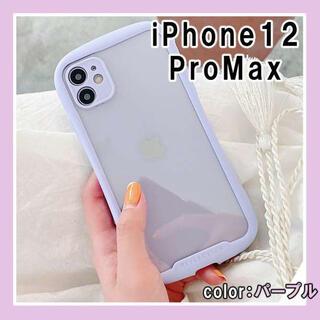 iPhoneケース 耐衝撃 アイフォンケース 12promax 紫 パープル F(iPhoneケース)