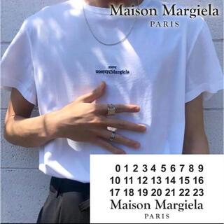 マルタンマルジェラ(Maison Martin Margiela)の【新品】MAISON MARGIELA マルジェラ 反転ロゴ刺繍 Tシャツ L(Tシャツ/カットソー(半袖/袖なし))