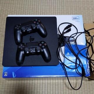 プレイステーション4(PlayStation4)のps4 本体 純正コントローラー2個付き(家庭用ゲーム機本体)