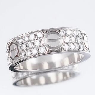 カルティエ(Cartier)の【仕上済】カルティエ ラブリング 10号 WG 50 ダイヤ 指輪 リング(リング(指輪))
