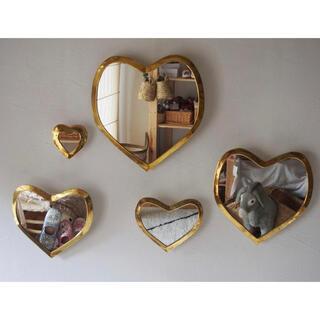 フランフラン(Francfranc)のmocomorocco   ハートミラー Mサイズ ゴールド(壁掛けミラー)