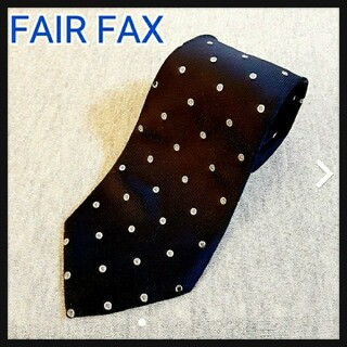 FAIR FAX - FAIR FAX フェアファクス ドット柄 ネクタイ シルク100% 日本製