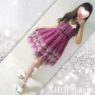 axes femme - 【訳あり新品】裾刺繍コットンワンピース✨フィント、アマベル、クラロリ、量産型