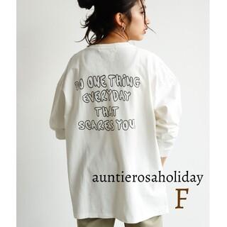 Auntie Rosa - 新品 アンティローザホリデー バックプリントTシャツ ロンT トップス 長袖