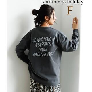 アンティローザ(Auntie Rosa)の新品 アンティローザホリデー バックプリントTシャツ トップス 長袖(Tシャツ(長袖/七分))