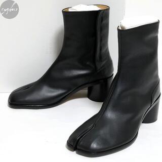 マルタンマルジェラ(Maison Martin Margiela)の42 27cm 21SS メゾンマルジェラ レザー 足袋 ブーツ 黒 新品 タビ(ブーツ)