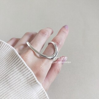 トゥデイフル(TODAYFUL)の【NEW】925 double finger ring *(リング(指輪))