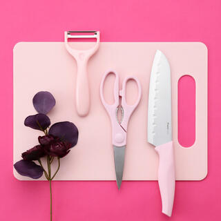フランフラン(Francfranc)のfrancfranc カッティングセット (4点セット) ピンク(調理道具/製菓道具)
