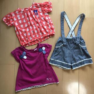 プチジャム(Petit jam)のプチジャム 95 * 女の子 夏服 半袖 まとめ売り(Tシャツ/カットソー)