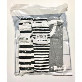 マルタンマルジェラ(Maison Martin Margiela)のS メゾン マルジェラ パックT ボーダー 黒白 3枚 セット Tシャツ(Tシャツ/カットソー(半袖/袖なし))