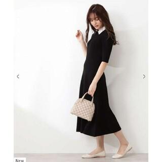 PROPORTION BODY DRESSING - (新品)プロポーションボディドレッシング♡クラシカル衿付きニットワンピース