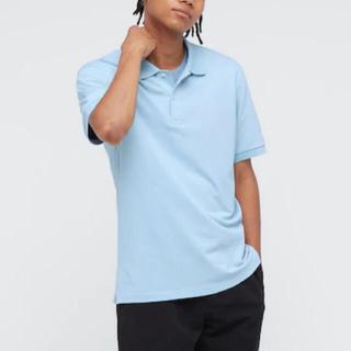 ユニクロ(UNIQLO)のユニクロ ドライカノコポロシャツ Mサイズ ライトブルー(ポロシャツ)