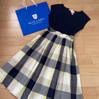BURBERRY BLUE LABEL - 美品 カタログ掲載 ブルーレーベル クレストブリッジ チェック スカート