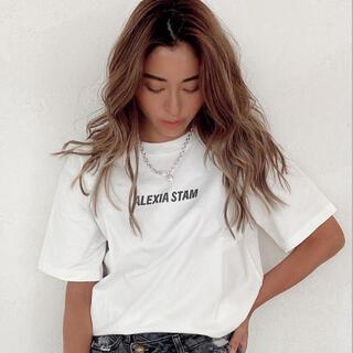 ALEXIA STAM - 【送料込】ALEXIASTAM Front Logo Tee White