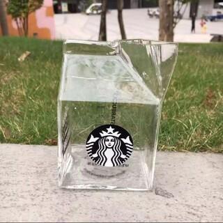 Starbucks Coffee - 【訳あり】海外 スターバックス 牛乳パック ガラス タンブラー マグカップ②