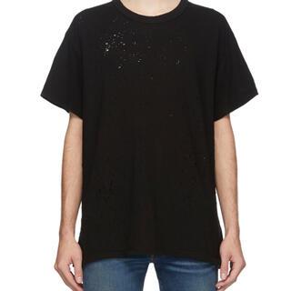 マルタンマルジェラ(Maison Martin Margiela)の【タグ・納付書完備】AMIRI Shotgun Tee ブラック(Tシャツ/カットソー(半袖/袖なし))