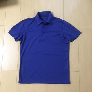 ユニクロ(UNIQLO)のユニクロ ポロシャツ トップス カットソー メンズ 青(ポロシャツ)